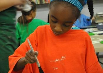 Children's workshop paints Christmas countdown elves