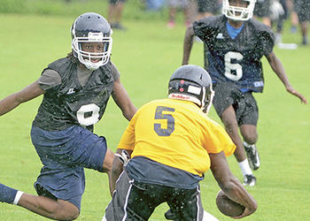 Back to work: Area football programs return to practice field