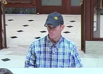 Photo courtesy of Winter Park Police Department - The alleged robber of the SunTrust branch on Park Avenue reportedly struck just as the bank was closing around 5 p.m. on Dec. 30.