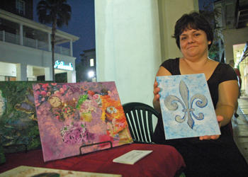 Photo by: Isaac Babcock - Michele Hebert shows her New Orleans-inspired art in Baldwin Park.