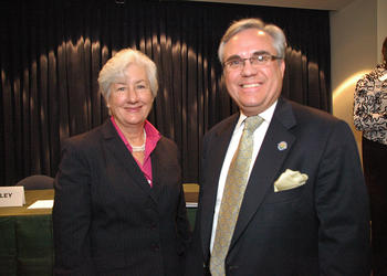 Photo by: Isaac Babcock - Winter Park Mayor Ken Bradley and challenger Nancy Miles squared off at three candidate forums Jan. 12-13.