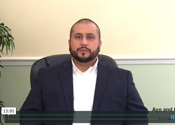 Photo by: Ayo and Iken - George Zimmerman released a video through law firm Ayo and Iken's website to discuss his thoughts on his prosecution.