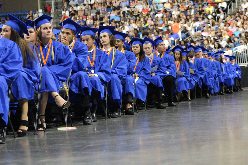 Hundreds of West Orange HIgh warriors listened to the senior class presidents, valedictorian and salutatorians give their inspirational speeches.