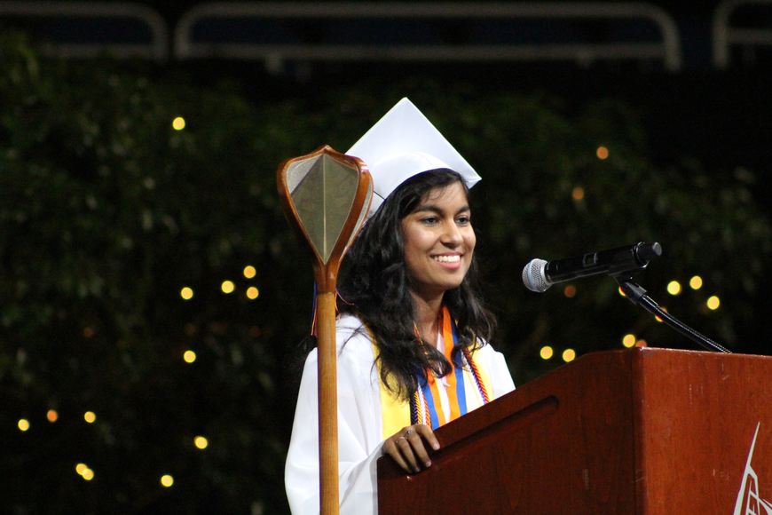 Co-salutatorian Chantale Ninah, an AP scholar with distinction, plans to study computer science at the University of Central Florida.