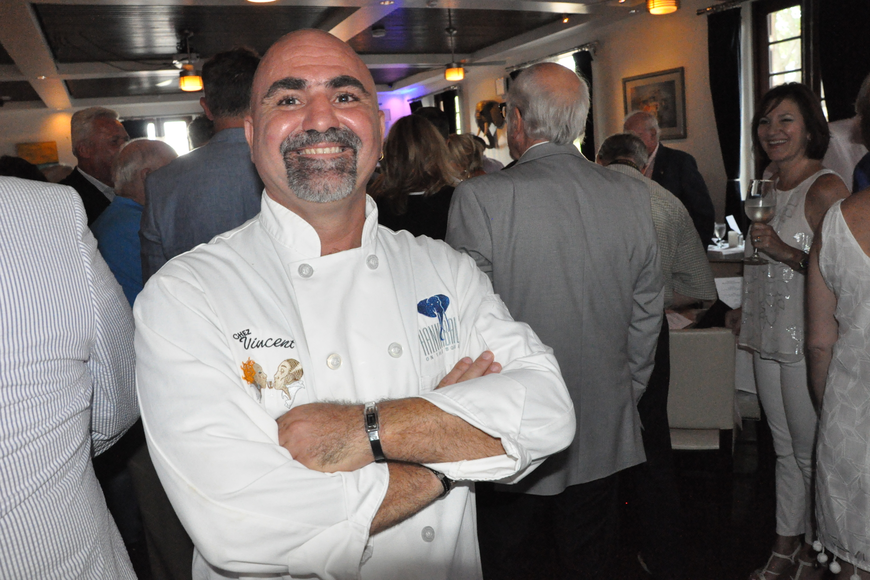 Chez Vincent Owner and Chef Vincent Gagliano was honored among friends and loyal patrons on Tuesday, July 11.
