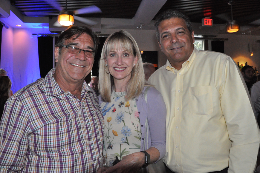 Dr. Todd Husty, Yvette Husty and Seminole County Commissioner Bob Dallari were spotted at the party on Tuesday.