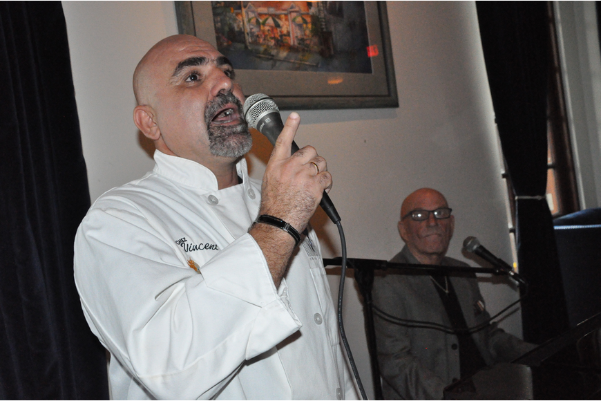 Chef Vincent Gagliano thanked his many friends and guests for coming.
