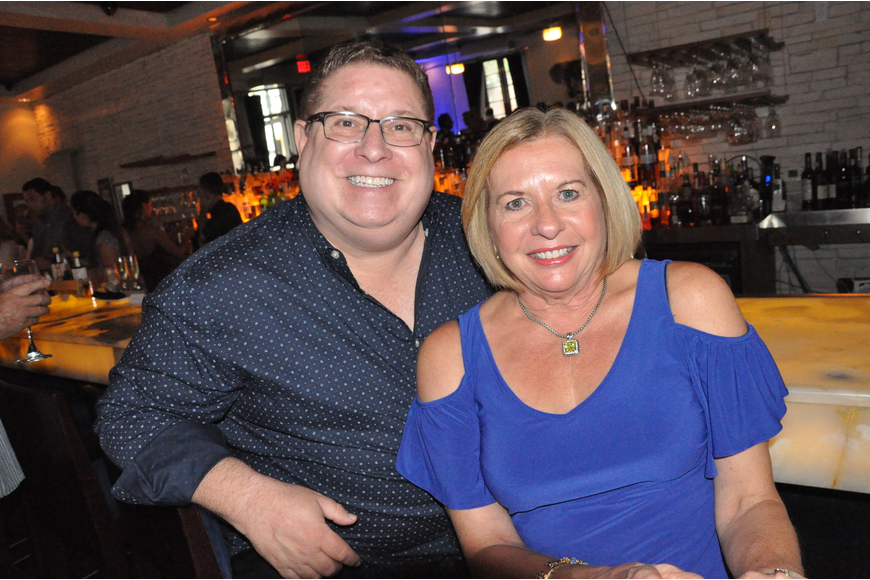 Scott Bender and Julie Boness enjoyed the party from the bar.