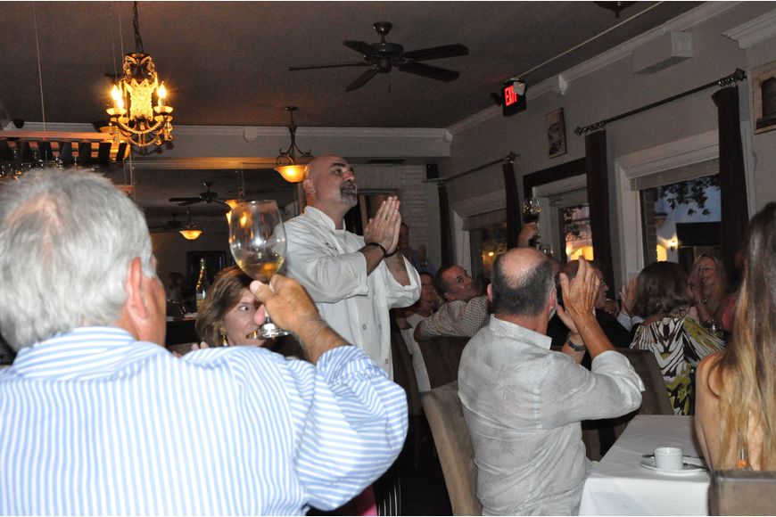 Guests and longtime friends toasted Chef Vincent Gagliano during the meal.