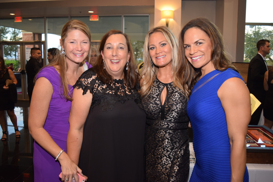 Jill Turnquist, Cheryl McDonnell, Michelle Rueff and Leneé Magnuson loved getting all dressed up.
