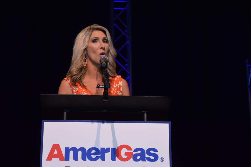 "WOFL Fox 35 ""Good Day Orlando"" co-anchor Amy Kaufeldt welcomed guests to the event."