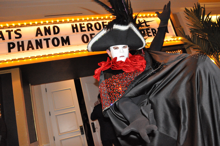 The Red Phantom welcomed guests into the dinner/performance room.
