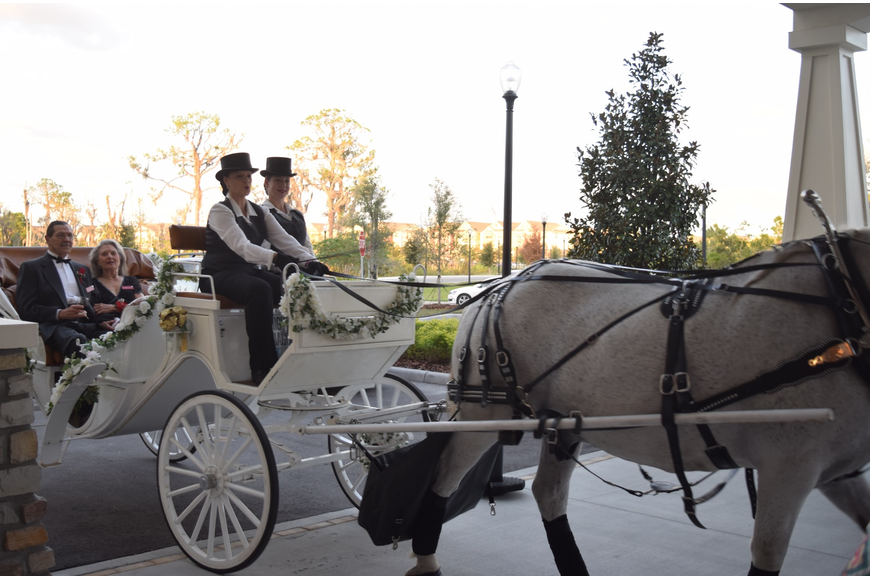 Horse and carriage rides were offered to guests in attendance.
