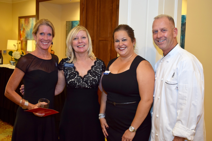 Karin Bateman, Sheila Flaschberger, Iveliz Martinez and RJ Frank were happy to help facilitate the gala.