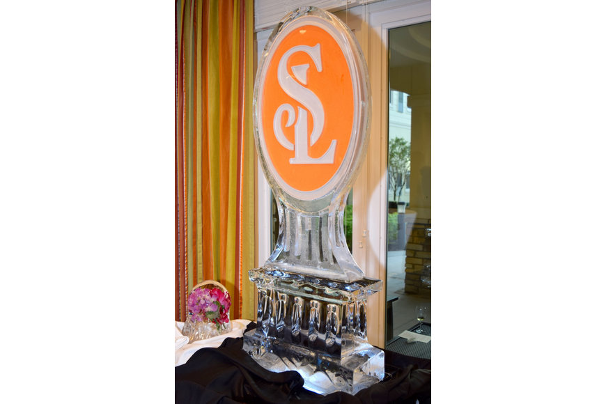 Senior Lifestyle is the parent company of the Sheridan at Windermere community, and set up a gorgeous ice sculpture with its initials.