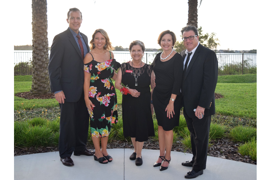 Mike and Susan Connor, Nancy Symonds and Pam and Tom Gurrentz posed for a photo as the sun went down.