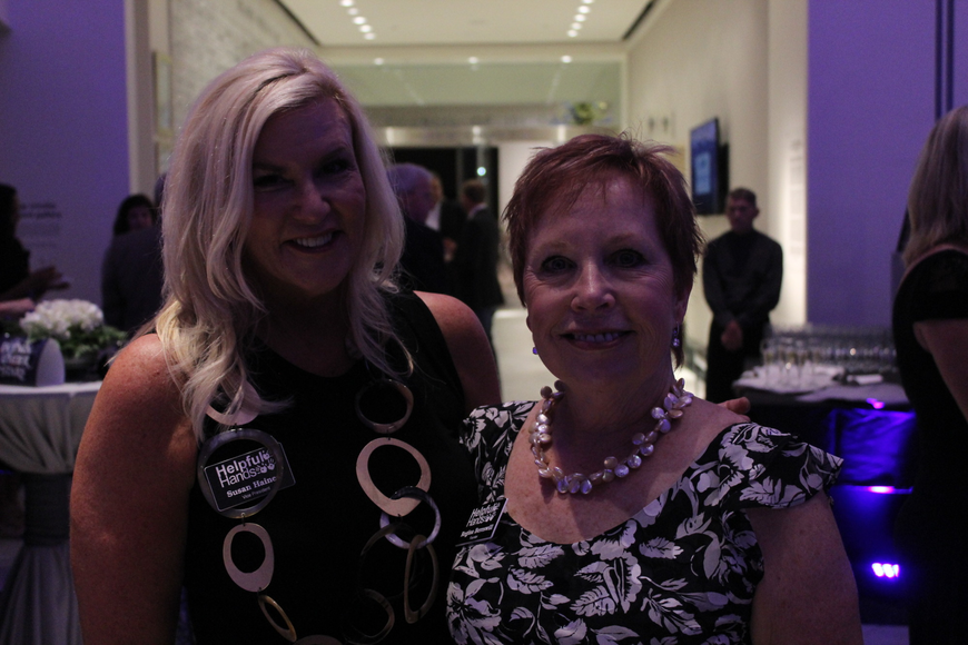 Helpful Hands vice president Susan Haines and founder Regina Bereswill had fun socializing with gala guests.