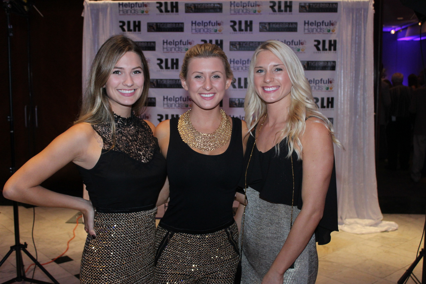 Lauren Stephan, Stephanie Rushing and Kellie Luebbert posed for cameras throughout the night.