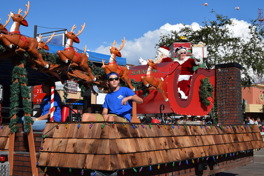 Mr. and Ms. Claus brought up the rear in the hourlong Winter Garden Christmas parade held Saturday, Dec. 2.