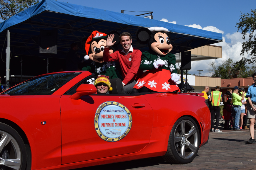 Disney World's Mickey and Minnie Mouse also participated in the festivities.