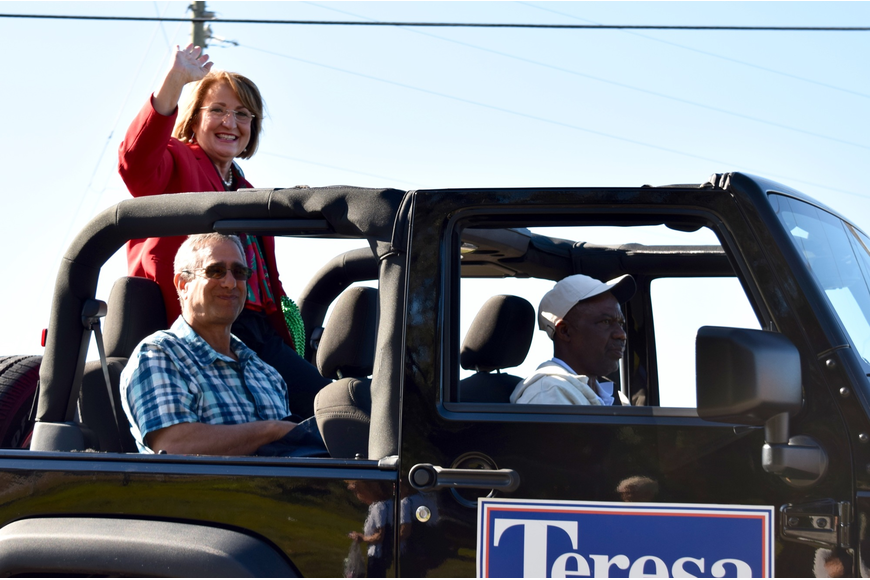 Orange County Mayor Teresa Jacobs was happy to participate in the parade.