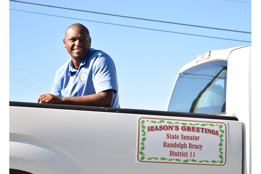 District 11 State Senator Randolph Bracy enjoyed being in the parade.