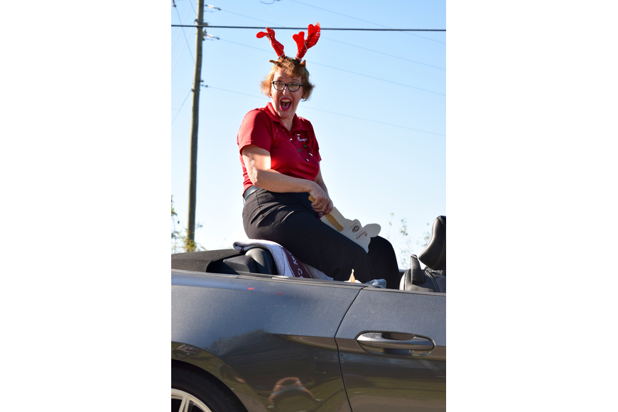 Beth Otts, the grand marshal for the parade, was ecstatic to be in it.