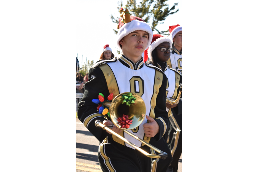 Some Ocoee High band members had their instruments decked out for the holidays.