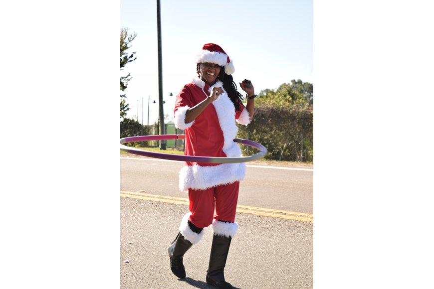 This hula-hooping Santa Claus was a crowd favorite.