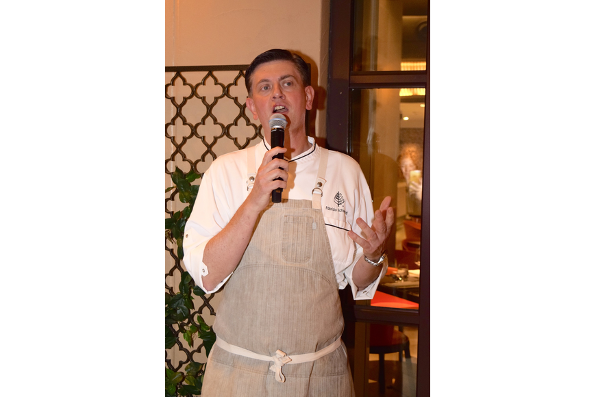 Fabrizio Schenardi, executive chef at Four Seasons Resort Orlando at Walt Disney World Resort, thanked guests for attending the dinner.