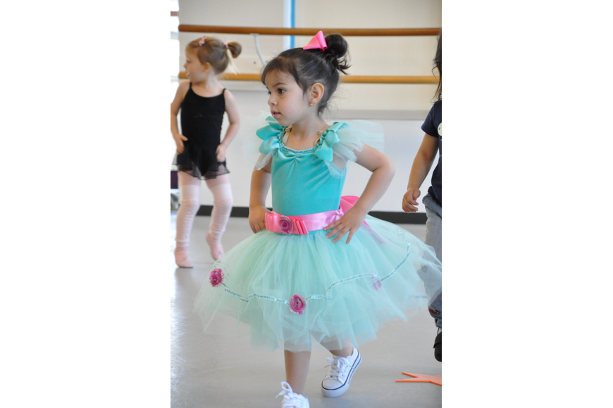 Cecilia Reyes, 2, had a great time participating in the Little Ballerina Parade.