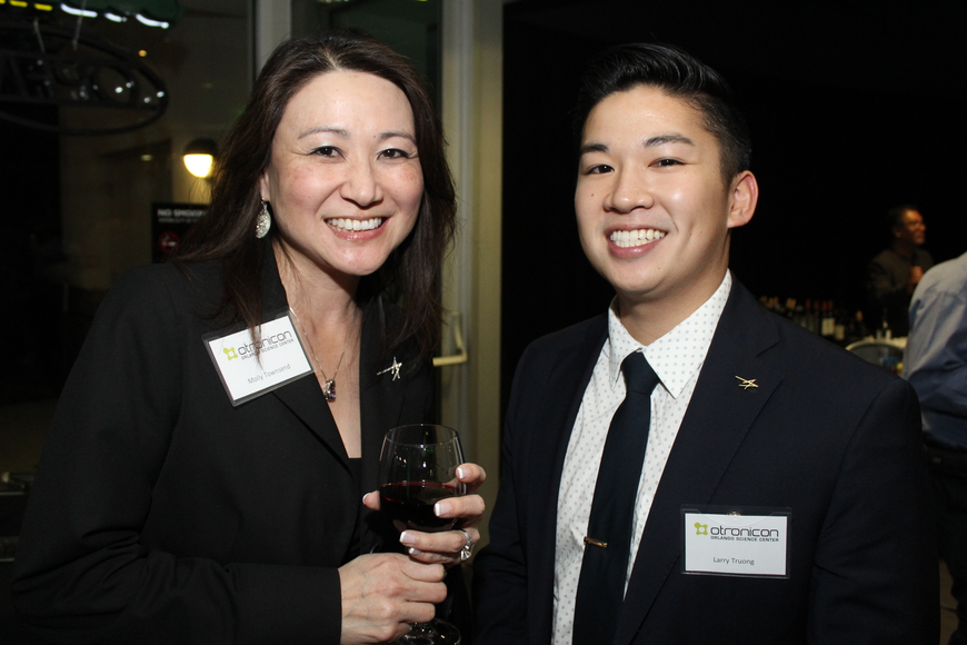Molly Townsend and Larry Truong met up over drinks