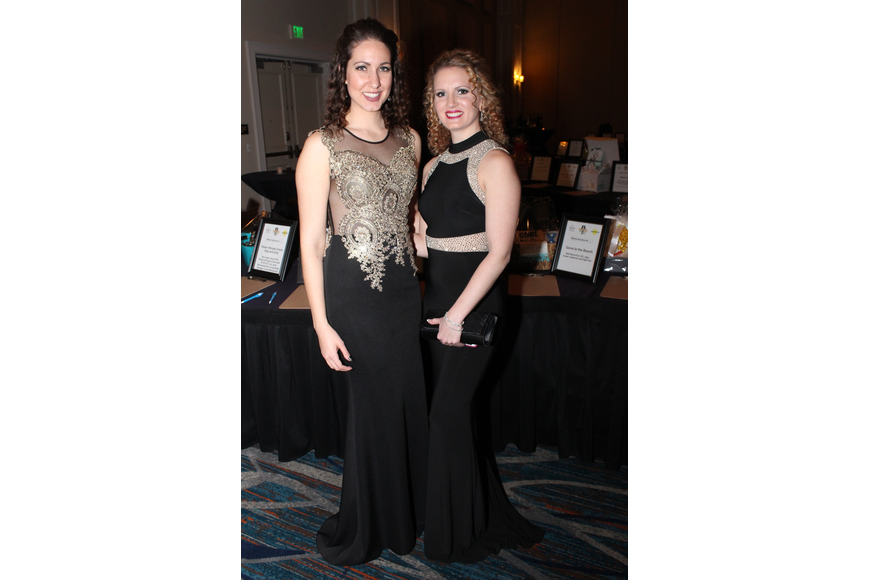 Courtney Peavler and Amanda Valencie traded bad pants for glamorous gowns.
