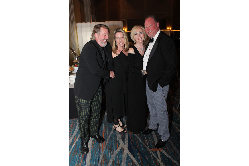 Stephanie and Jeff Vaughn had a ball with Doug and Donna Daniels.