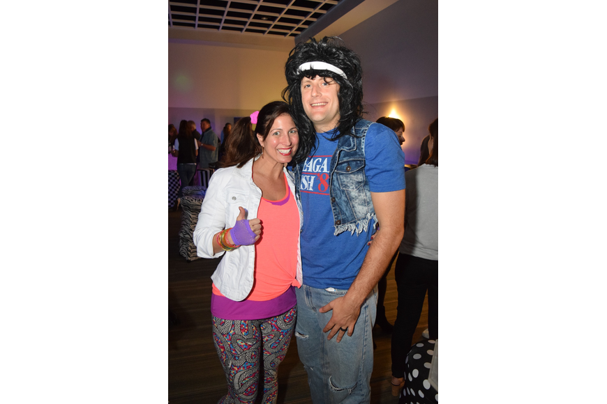 Michael and Jessica Correnti looked great in their '80s gear.