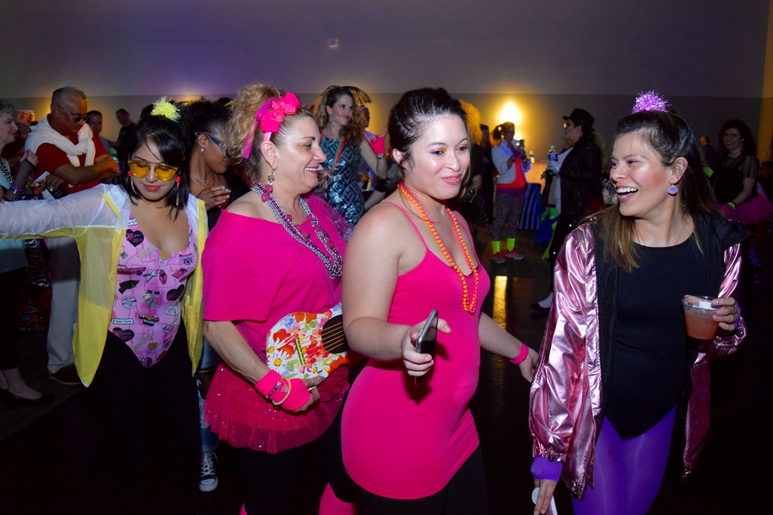 Participants in the costume contest paraded around the dance floor to show off their outfits.