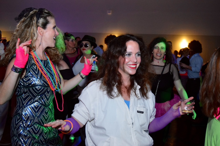 It wouldn't have been a true '80s party without some dancing during the costume contest.