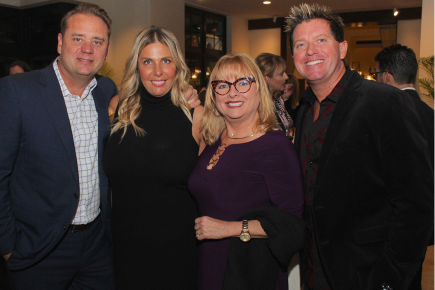 Patrick Lewis, Revi Rofe, Shirley Stamper and Jason Marks brought some flair to the event.