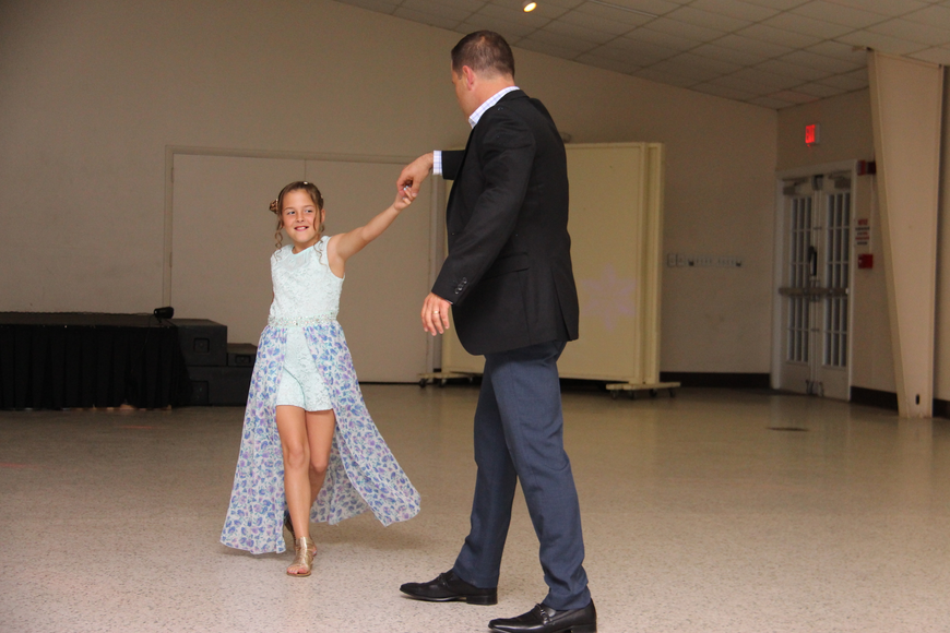 Faith Fazzone showed off her dance moves with her dad, Tony.