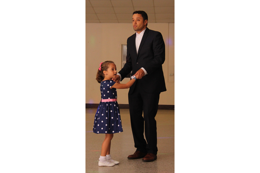 Reese Pinkcombe and her dad, Ré, had fun making memories on the dance floor.