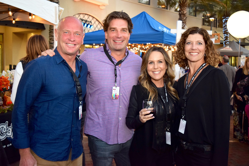 Robert Masson, John Ehrhard, Kimberly Ehrhard and Denise Masson got to catch up with each other at the event.
