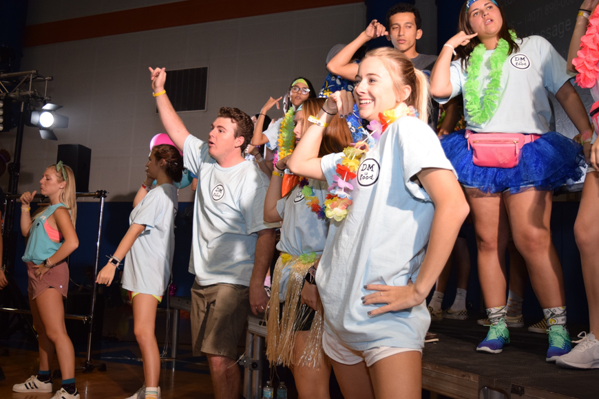 Student Government Association members led the morale dances.