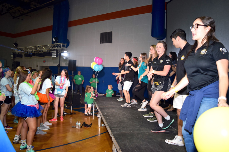 UCF students and Knight-Thon leaders performed their own morale dance.