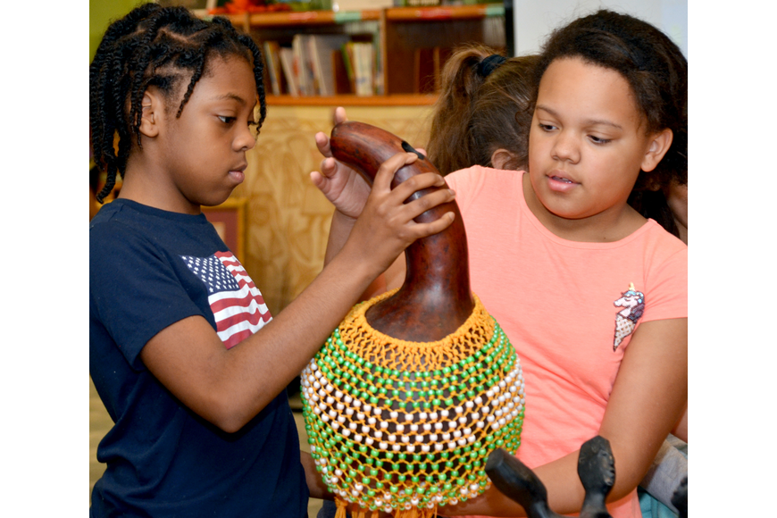 Bre'Anna Minniefield and Alexa Bishop find out what this instrument sounds like.