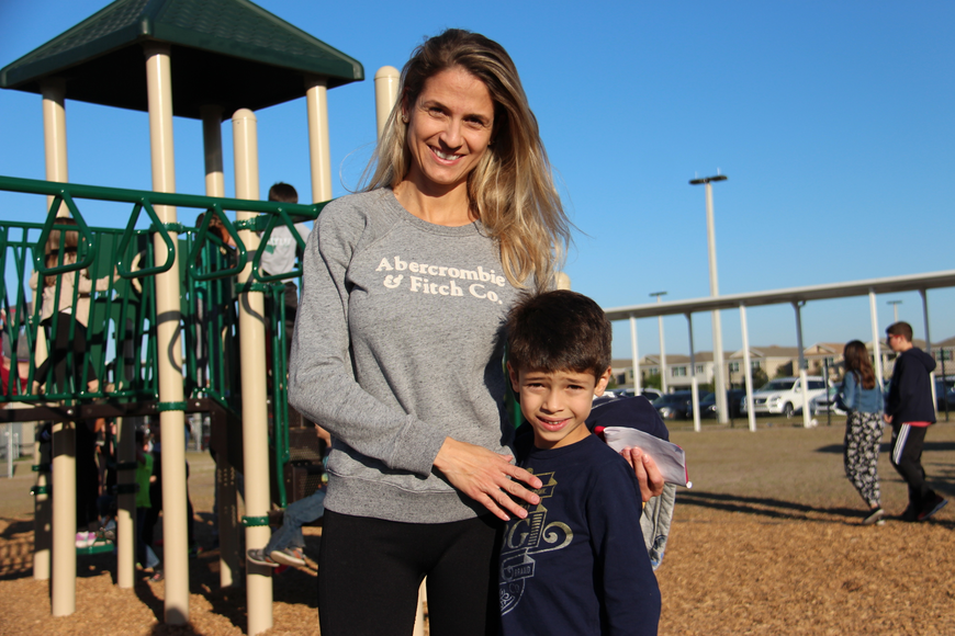 Elisa Kuhn and her son, Henrique, had fun at the event.