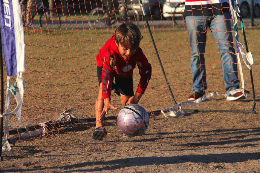 Victor Pecanha enjoyed playing soccer at the Spring Fling.