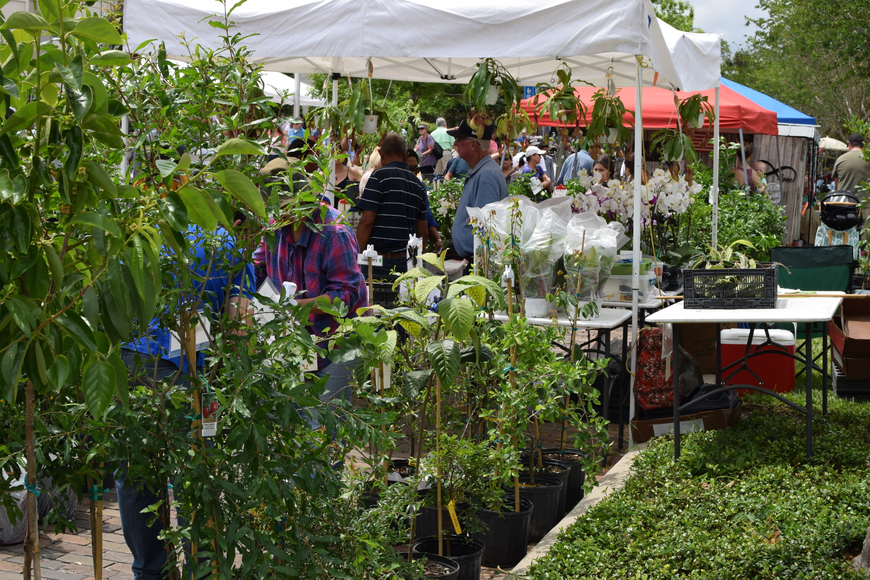 Thousands meandered through the many booths showcasing varieties of flora and handmade garden decor.