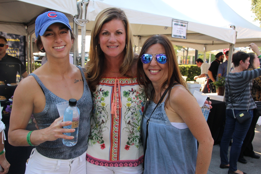Angeline Nisa, Charisse Kissenberth and Margie Morris had a great time checking out the vendors.