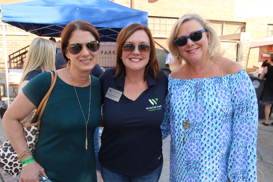 Ansley Butts, Winter Park Chamber of Commerce president Betsy Gardner Eckbert and Kristi Hlavek were thrilled with the event's turnout.