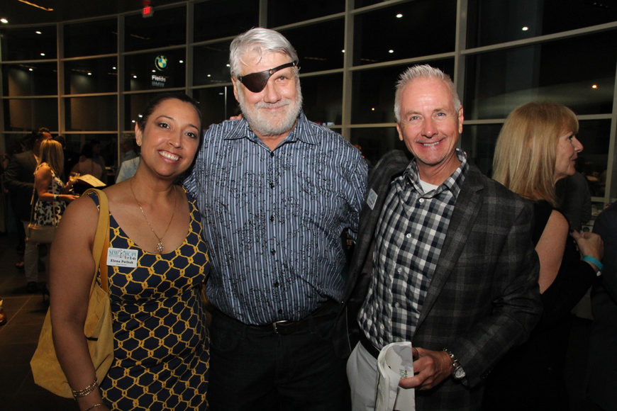Board member Elena Pathak, Bob Szafranski and board member Pat Michaels were thrilled with the turnout.